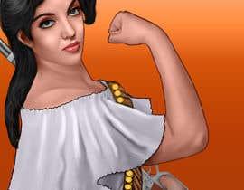 #52 para Logo Illustration Women in Dress Flexing muscle holding rifle de ouahab