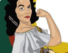 #45 para Logo Illustration Women in Dress Flexing muscle holding rifle de DianaGrossoArt