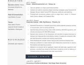 #11 para Design me a resume de hasnaa0