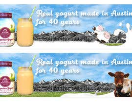 #12 for Text & Design to Add to Billboard picture content for Yogurt by gabibaba2000