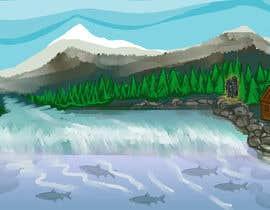 #32 para Background for mystical lake serpent de elenaodbitola9