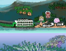 #33 para Background for mystical lake serpent de elenaodbitola9