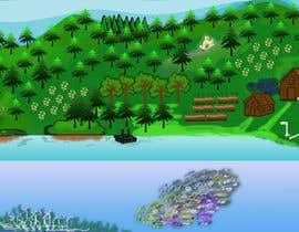 #41 para Background for mystical lake serpent de elenaodbitola9