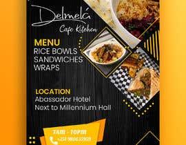 #93 untuk flyer for DELMELA CAFE oleh word4design