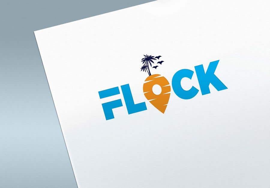 """Конкурсная заявка №                                        251                                      для                                         Logo for a travel app """"Flock"""""""