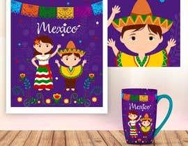 Nro 155 kilpailuun Mexican Fiesta Cartoon Illustration Vector käyttäjältä geandreina9