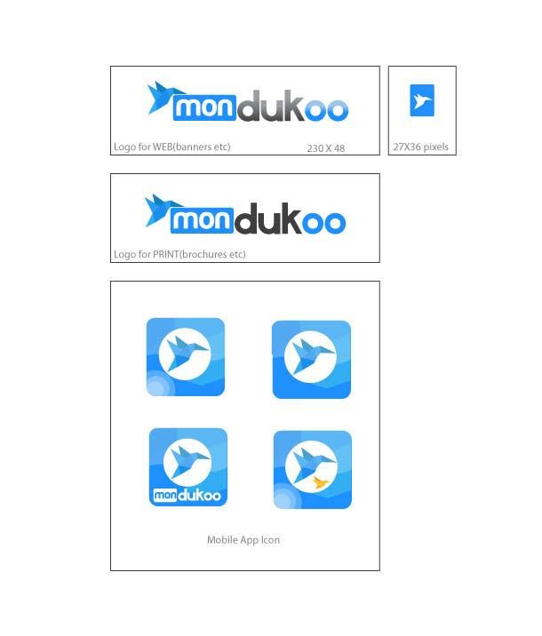 Bài tham dự cuộc thi #                                        15                                      cho                                         mondukoo, create a logotype for my personnal website and an icon