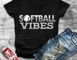 #44 для Baseball/Softball Vibes T-shirt Design от utsabarua
