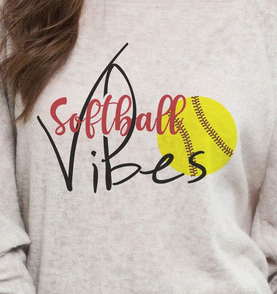Конкурсная заявка №                                        68                                      для                                         Baseball/Softball Vibes T-shirt Design