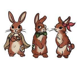 #5 untuk Draw three cartoon bunny characters in 2D as per the description provided oleh Antonija93