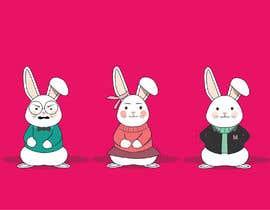 #21 untuk Draw three cartoon bunny characters in 2D as per the description provided oleh jasmannat