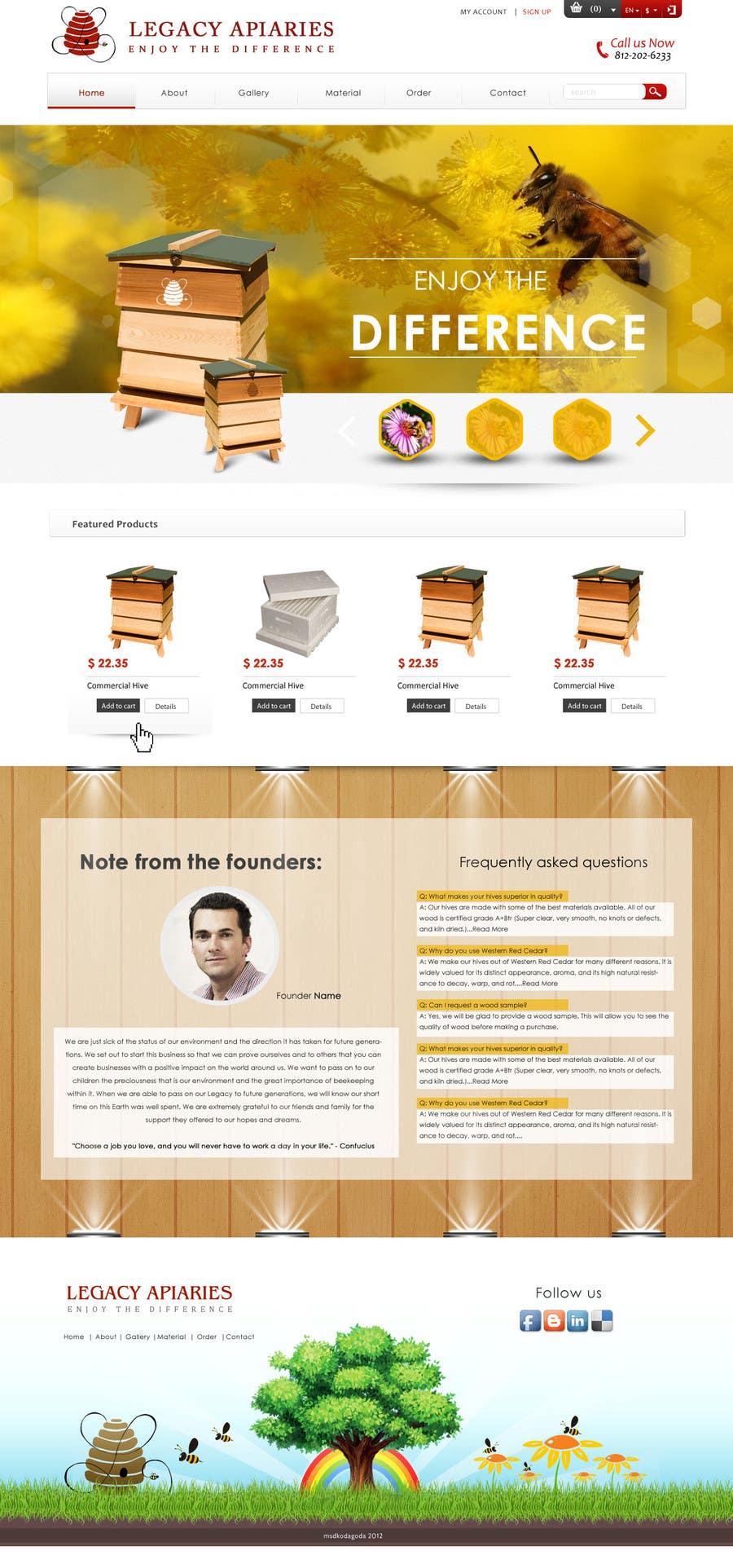 Konkurrenceindlæg #                                        9                                      for                                         Website Design for newly designed beehive eCommerce site