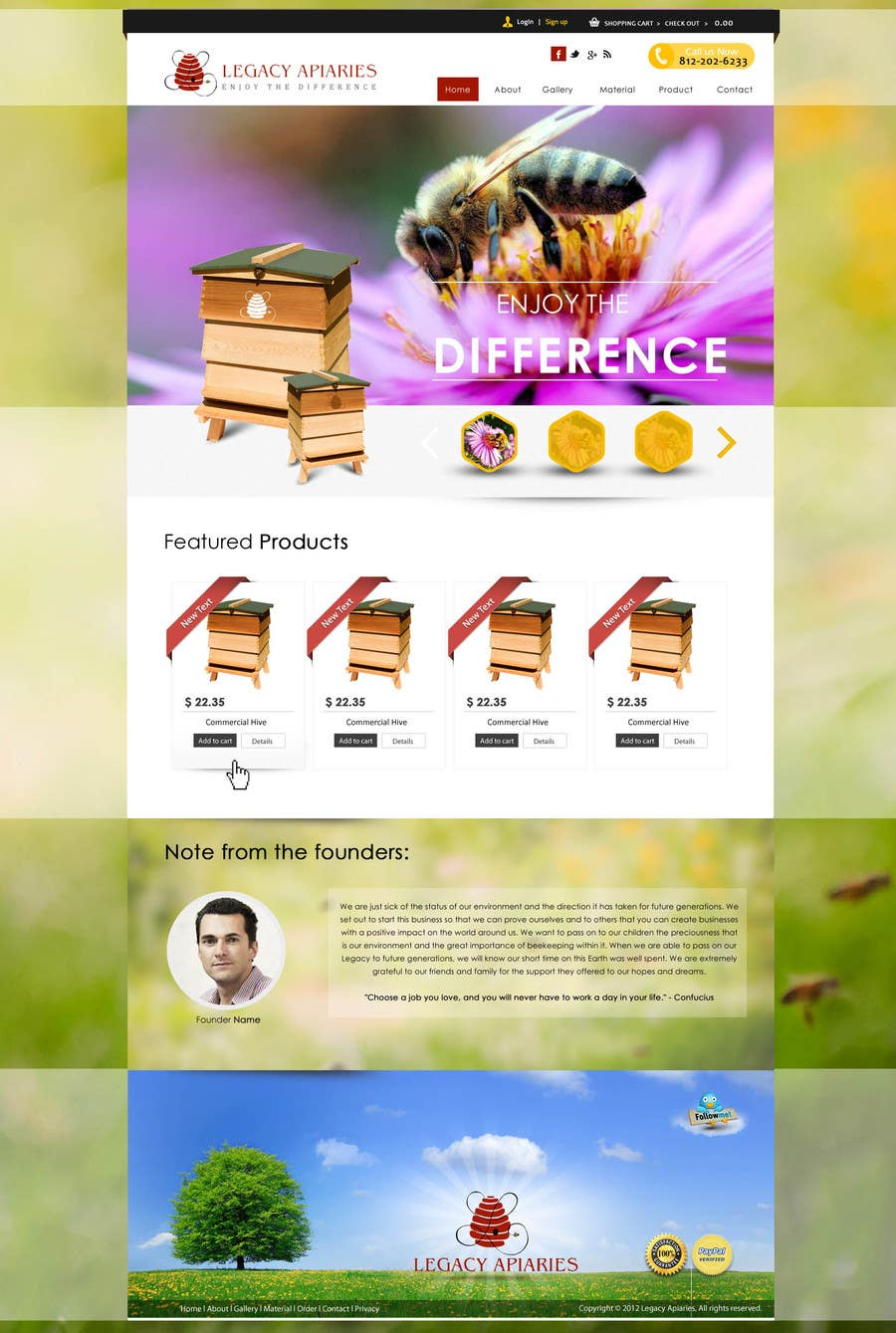 Konkurrenceindlæg #                                        13                                      for                                         Website Design for newly designed beehive eCommerce site