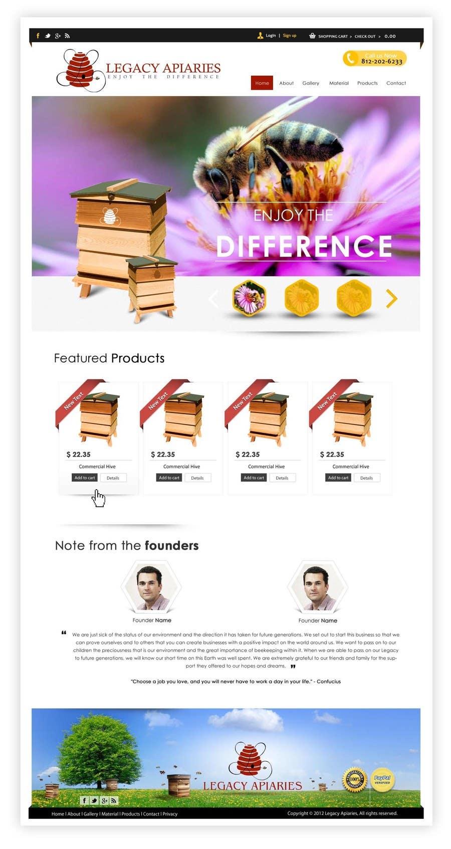 Konkurrenceindlæg #                                        22                                      for                                         Website Design for newly designed beehive eCommerce site