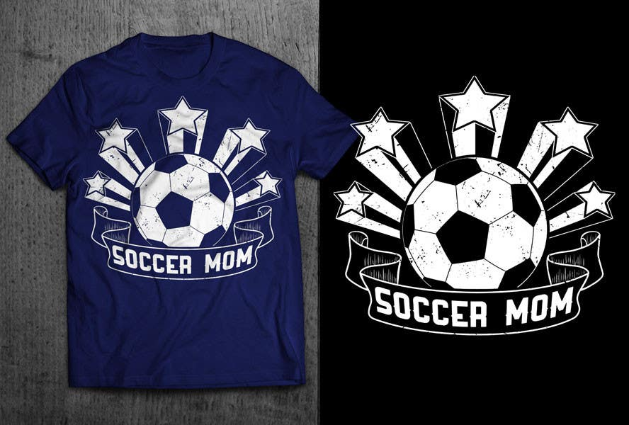 Soccer Mom T Shirt Designs | Entry 70 By Gautamhp For Design A T Shirt For Soccer Mom Freelancer