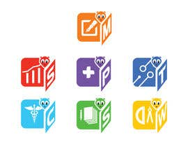 #11 for 7 icons are required to be designed as a shortcuts based on our logo by atifbhatti89