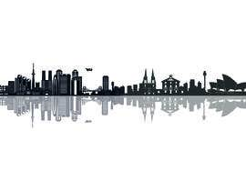 Nadiambis tarafından Image - Graphic of multiple city skylines için no 32