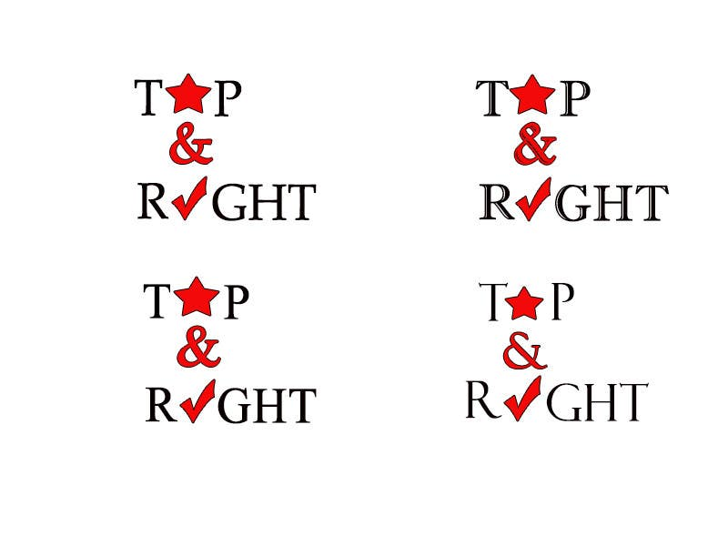 "Penyertaan Peraduan #                                        95                                      untuk                                         Design a Logo for ""Top & Right"""