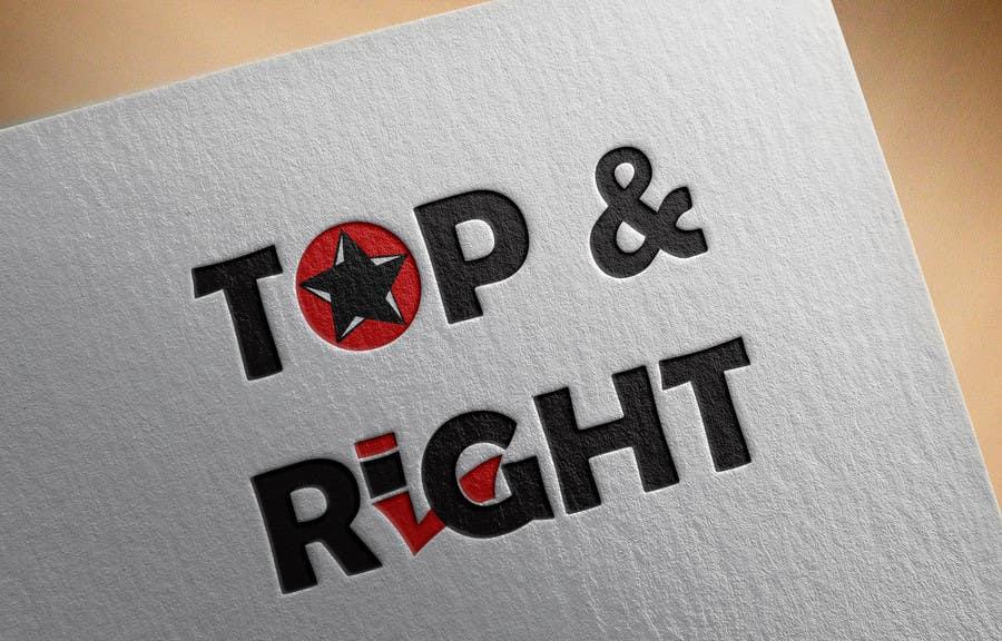 "Penyertaan Peraduan #                                        102                                      untuk                                         Design a Logo for ""Top & Right"""