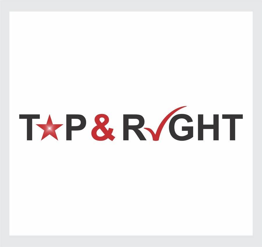 "Penyertaan Peraduan #                                        89                                      untuk                                         Design a Logo for ""Top & Right"""