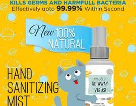 Nro 54 kilpailuun Design me a single promotional flyers for my brand new hand sanitizer for Kids (Instagram post size) käyttäjältä QasimAs