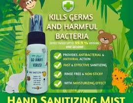 Nro 63 kilpailuun Design me a single promotional flyers for my brand new hand sanitizer for Kids (Instagram post size) käyttäjältä simran993