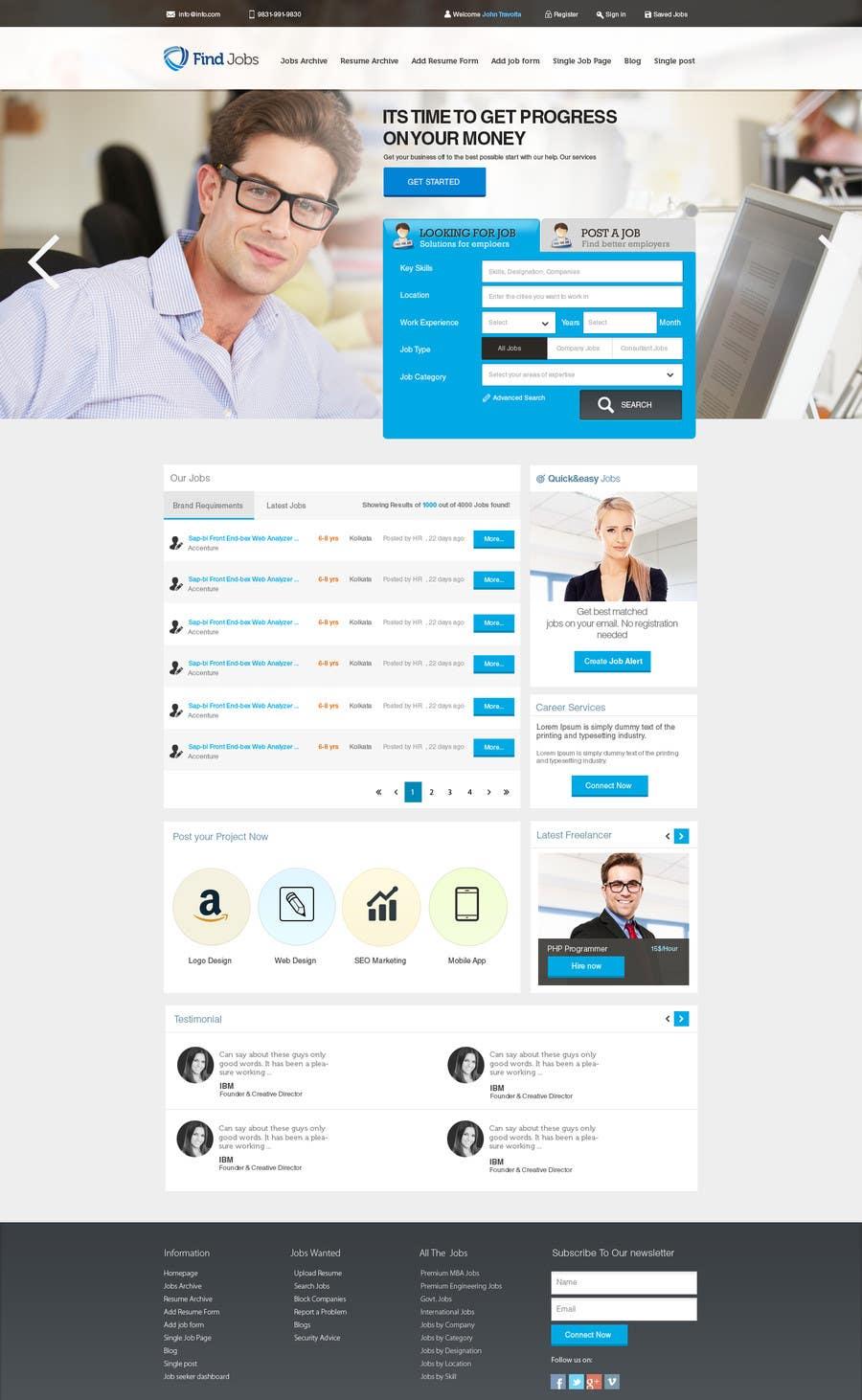 design a job board wordpress themes mockup lancer 28 for design a job board wordpress themes mockup by nilsoft123