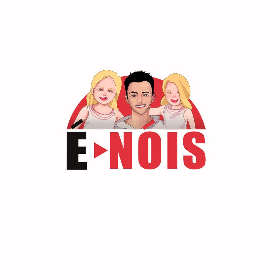 Конкурсная заявка №                                        71                                      для                                         I need a logo with the phrase  É Nóis and is for a vlog channel and I have identical twin daughters, i really want the words in a cool font and something nice but if you can add something twins related that is a bonus.