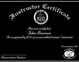 #9 untuk Make landscape style instructor certificate oleh alirukhshah9