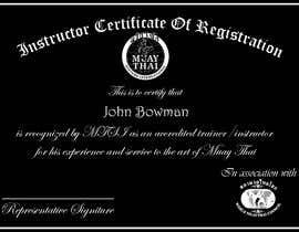 #16 untuk Make landscape style instructor certificate oleh abumuhammed4862