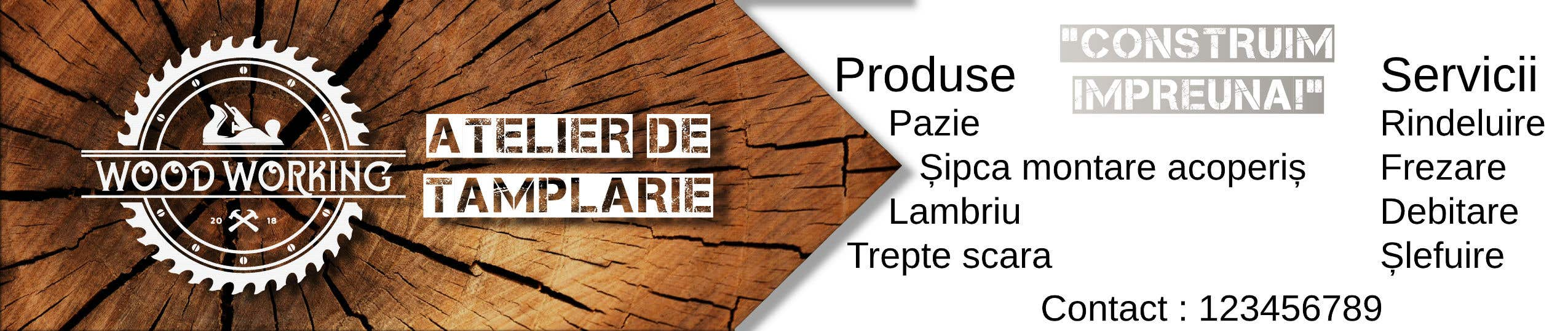 """Intrarea #                                        21                                      pentru concursul """"                                        Creare banner outdoor-  atelier tamplarie lemn                                     """""""