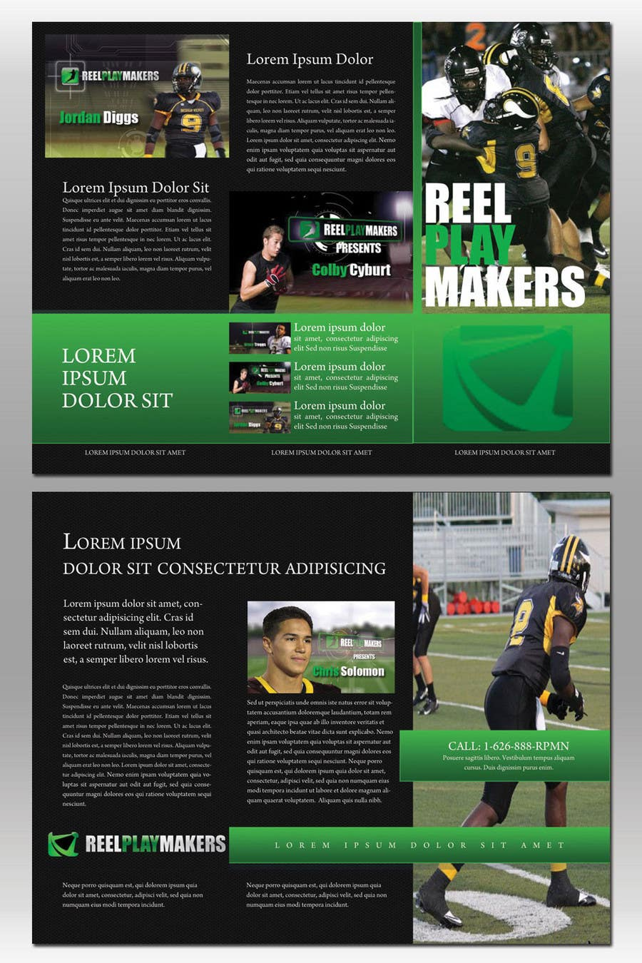 Contest Entry #17 for Print & Packaging Design for Reel Playmakers