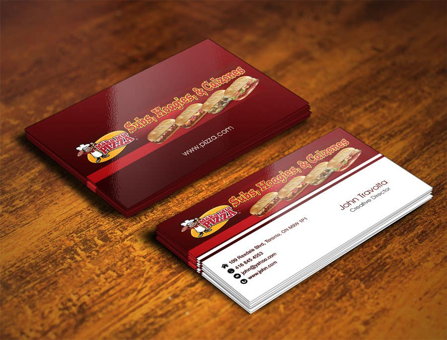 Entry #18 by IllusionG for Design some Business Cards for Pizza ...