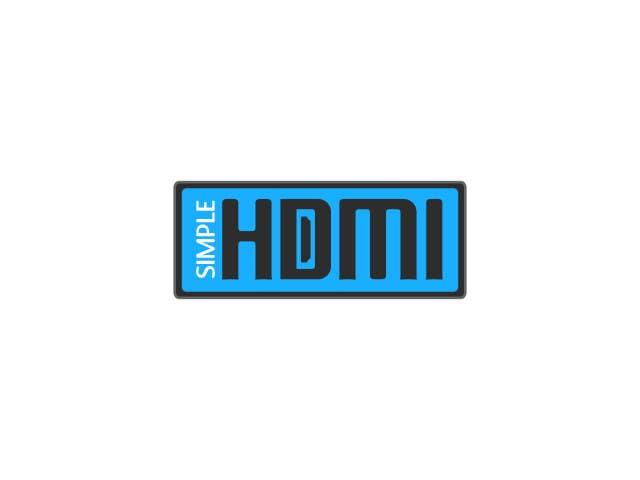 Kilpailutyö #                                        79                                      kilpailussa                                         Logo Design Simple HDMI