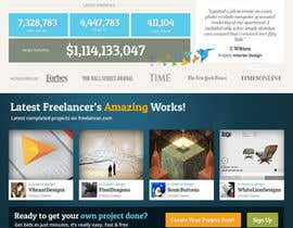 #717 para Freelancer.com contest! Design our Homepage! por dmoldesign