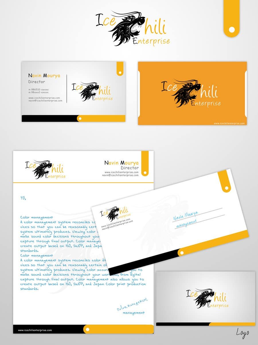 Konkurrenceindlæg #49 for Logo Design, Letterhead & Business Card for Ice Chili Enterprises