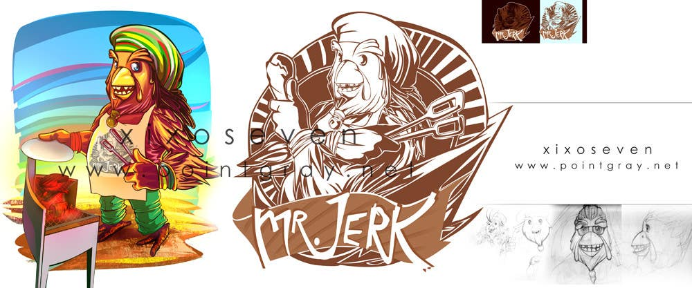 Contest Entry #                                        45                                      for                                         RASTA CHICKEN AKA MR. JERK!!!