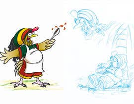 #39 para RASTA CHICKEN AKA MR. JERK!!! de sjbeckettdesign