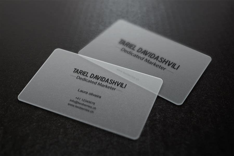 Entry #65 by gohardecent for Design some personal business cards ...