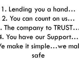 #7 untuk Write a tag line/slogan for a short term finance company. oleh yasmineossama