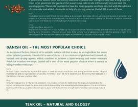 #6 para Infographics for comparison of different Wood Worktop  Oils de riponsumo