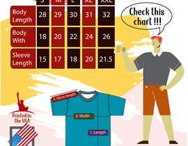 #6 для Design me a sizing guide (shirt measurements) image for my branded t-shirts. от wandafril