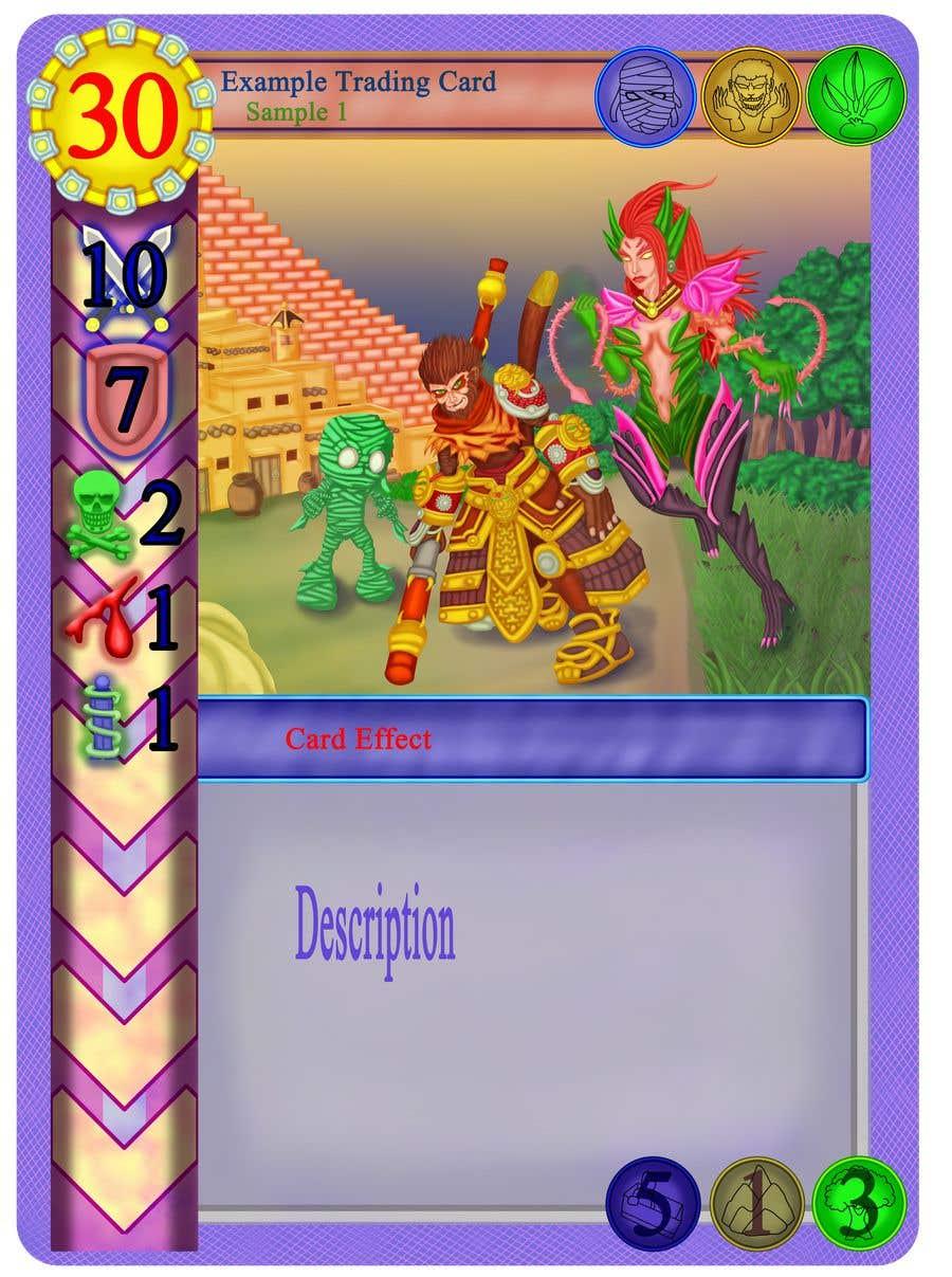 Penyertaan Peraduan #                                        20                                      untuk                                         Trading Card Game Template Design. Possible Multiple Winners.