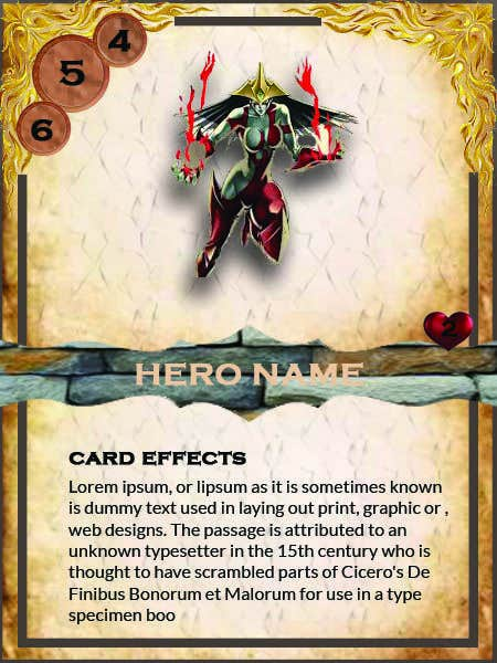 Konkurrenceindlæg #                                        41                                      for                                         Trading Card Game Template Design. Possible Multiple Winners.