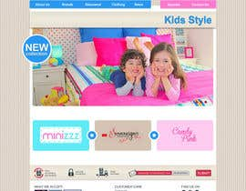 dmytrodanylyk tarafından Home Page for Childrens Clothing Brand - PSD artwork only için no 19