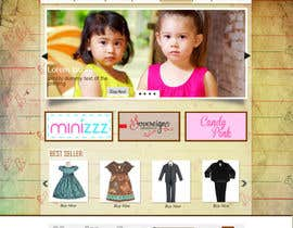 peaceonweb tarafından Home Page for Childrens Clothing Brand - PSD artwork only için no 17