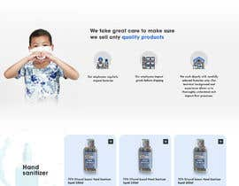 #35 for Design a website for a cosmetics brand selling hand sanitizer and masks by biyas526