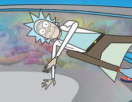 """#9 for I need a skateboard scene re draw a as if it was from Rick and morty   Some example reference images attached. And an example of a completed image  Image needs to be on a canvas that is 9x33"""" at 300dpi  Images not in that format will be rejected by Karthikeyan1411"""