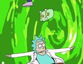 """#5 for I need a skateboard scene re draw a as if it was from Rick and morty   Some example reference images attached. And an example of a completed image  Image needs to be on a canvas that is 9x33"""" at 300dpi  Images not in that format will be rejected by benjicoco"""