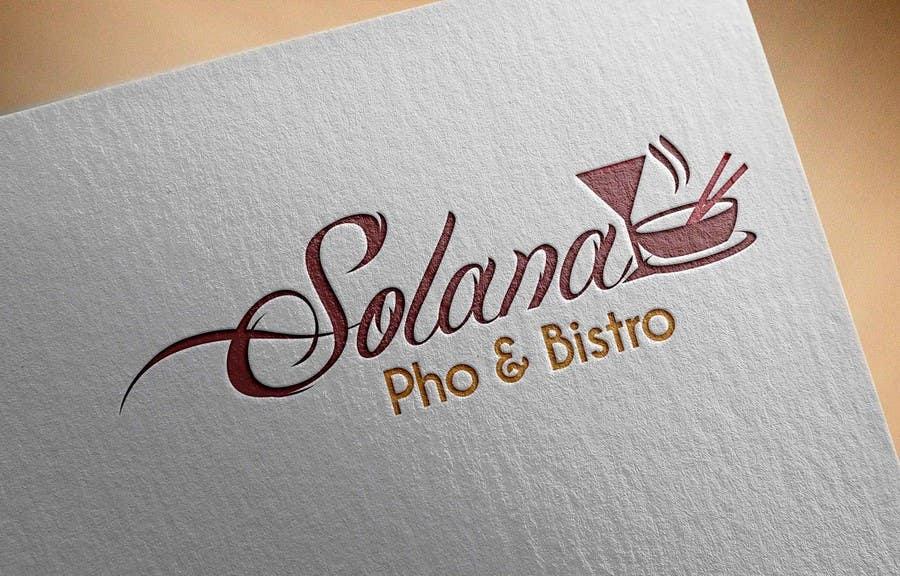 Tävlingsbidrag #32 för Design a Logo for Solana Pho & Bistro